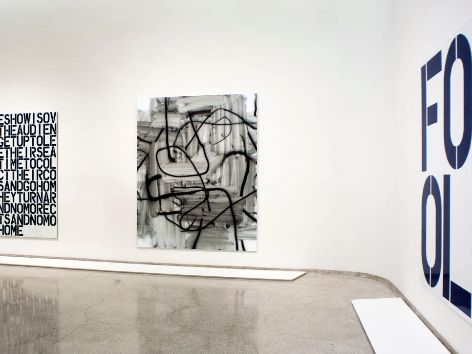 3 Wool paintings installed at Guggenheim