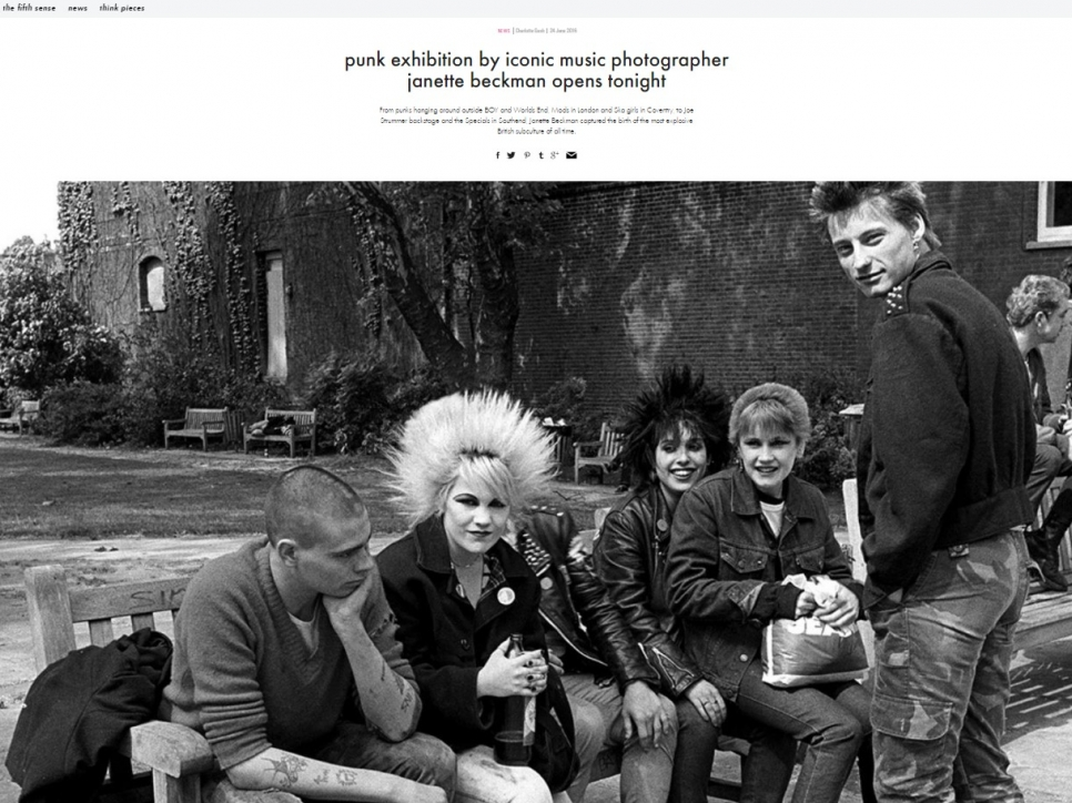 Punk Exhibition By Iconic Music Photographer Janette Beckman Opens Tonight - iD Vice