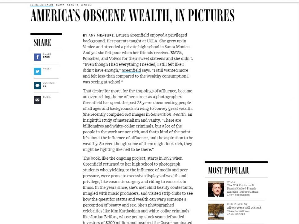 Lauren Greenfield - America's Obscene Wealth, in Pictures - Wired
