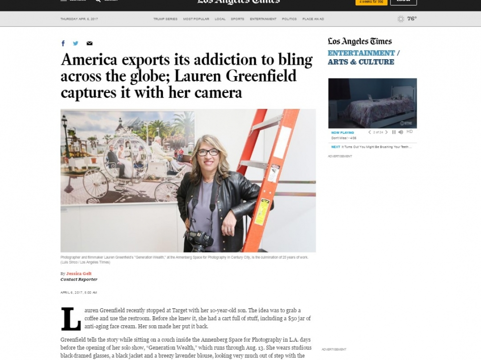 America exports its addiction to bling across the globe; Lauren Greenfield captures it with her camera - LA Times