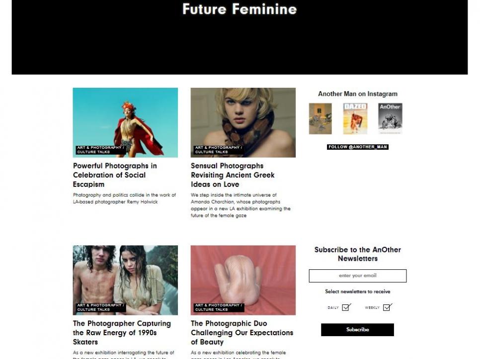 Future Feminine - Another Magazine