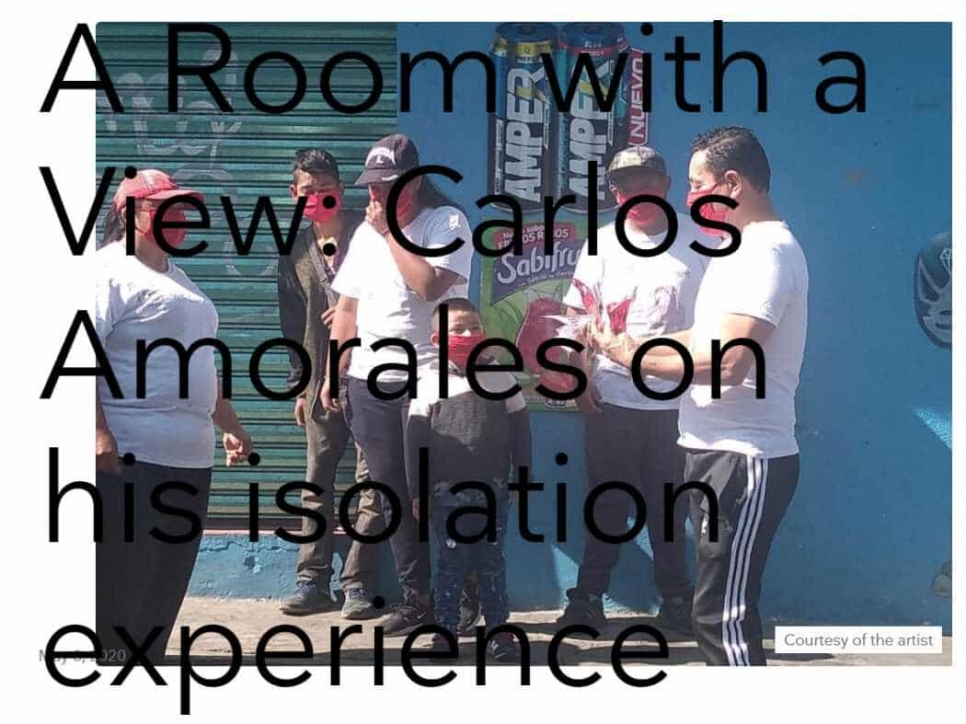 press: a room with a view: carlos amorales on his isolation experience