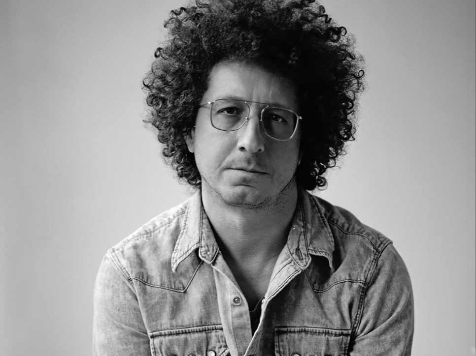 Black and white photographic portrait of Tony Matelli
