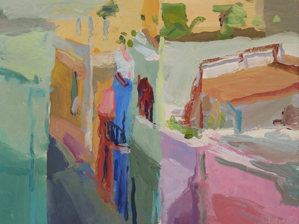 Calle Sol, Old San Juan 11 x 14 Oil On Linen