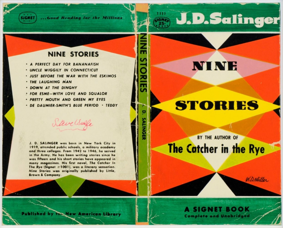 Book cover for Nine Stories by JD Salinger