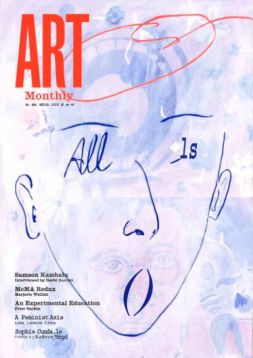 Magazine cover for Art Monthly