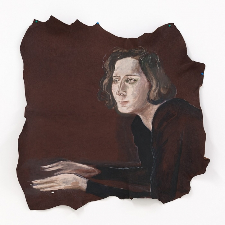 Painting of woman in brown