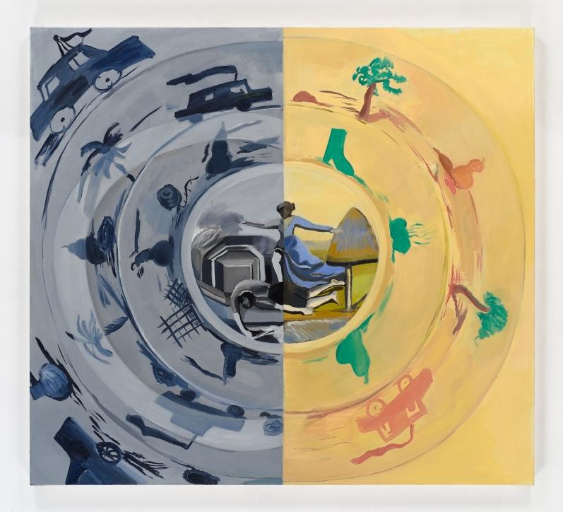 Katz painting Half and Half, 2012