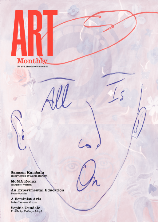 Katz painting on cover of Art Monthly