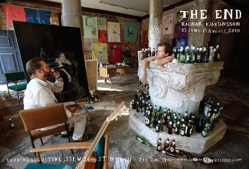 Ragnar Kjartansson, The End/The Man poster, June 25 – August 13, 2010