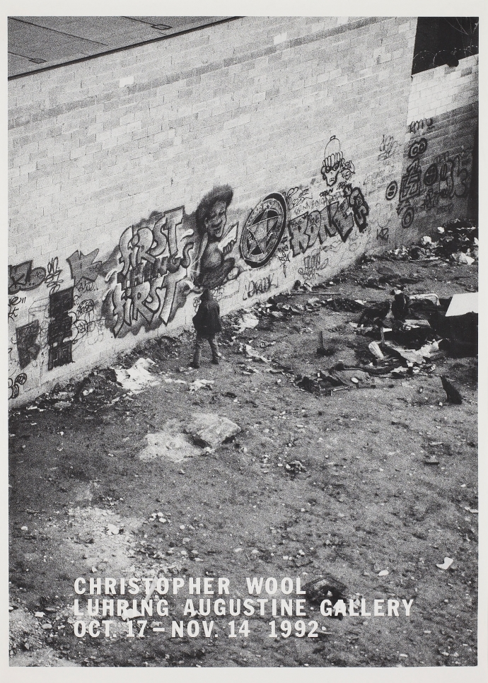 Christopher Wool, exhibition poster, October 17 – November 14, 1992