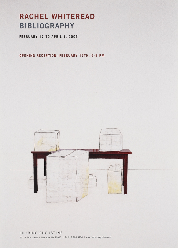 Rachel Whiteread, Bibliography poster, February 17 – April 1, 2006