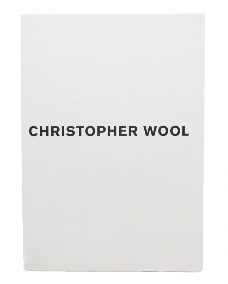 Christopher Wool, Luhring Augustine book, 2004