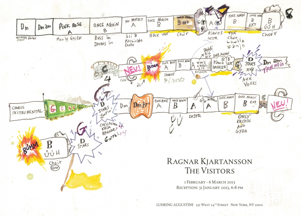 Ragnar Kjartansson, The Visitors poster, February 1 – March 6, 2013