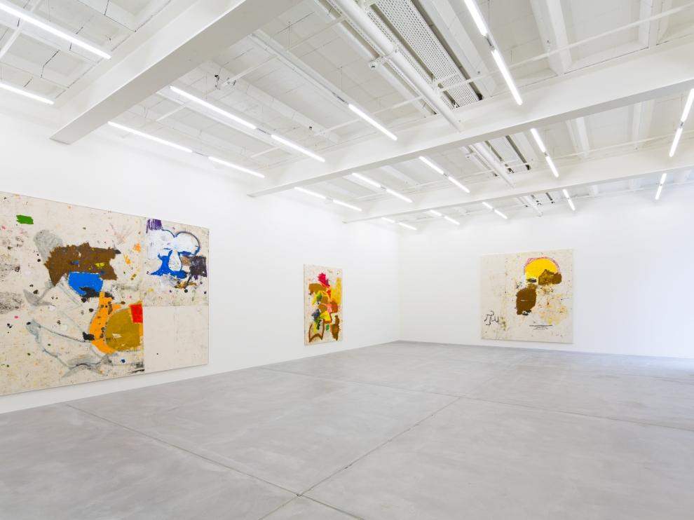 Installation view of Joe Bradley painting exhibition