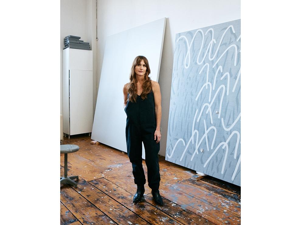 Full-length portrait of Amy Feldman in her studio