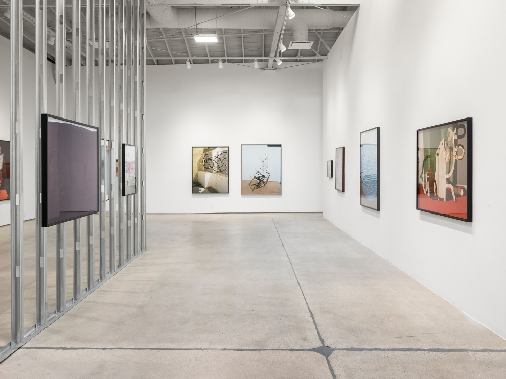 Installation view of Works by Lucas Blalock
