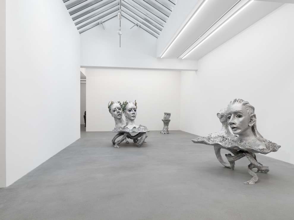 Installation view of Jean-Marie Appriou sculpture exhibition