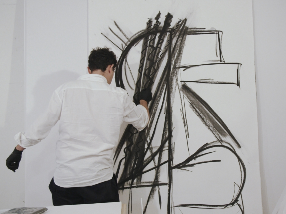 Wyatt Kahn in the Studio