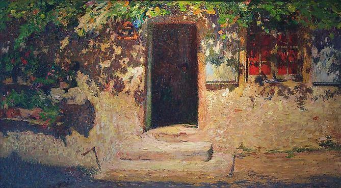 Henri Martin La Porte D' Entrée d'une Maison dans Labastide du Vert