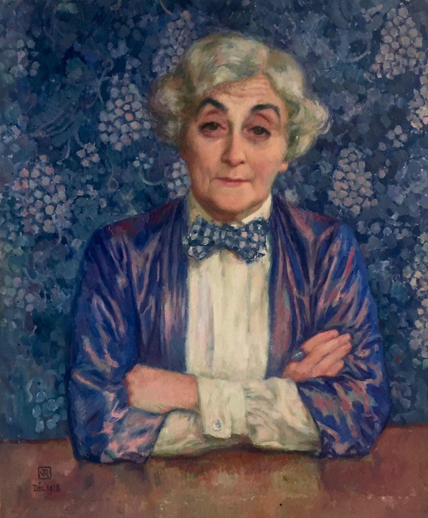 Théo van Rysselberghe, 1862 - 1926  Maria van Rysselberghe au Noeud a Pois