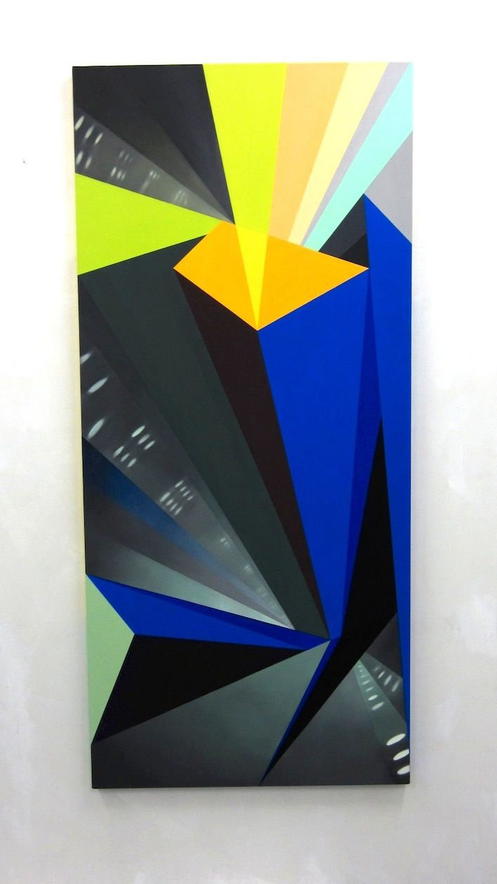 JANET JONES   HIGH-ALT. HOVER #2  OIL AND ACRYLIC ON CANVAS   30 X 66 INCHES  2012