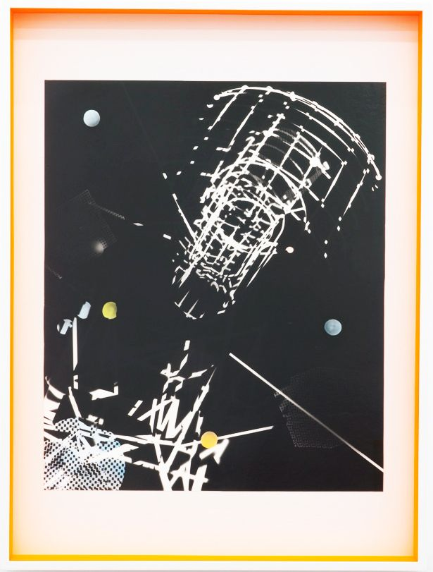 JANET JONES   SPACE JUNK #2  PHOTOGRAM-SILVER / HAND TINTED   32.5X 24.5INCHES   2017,