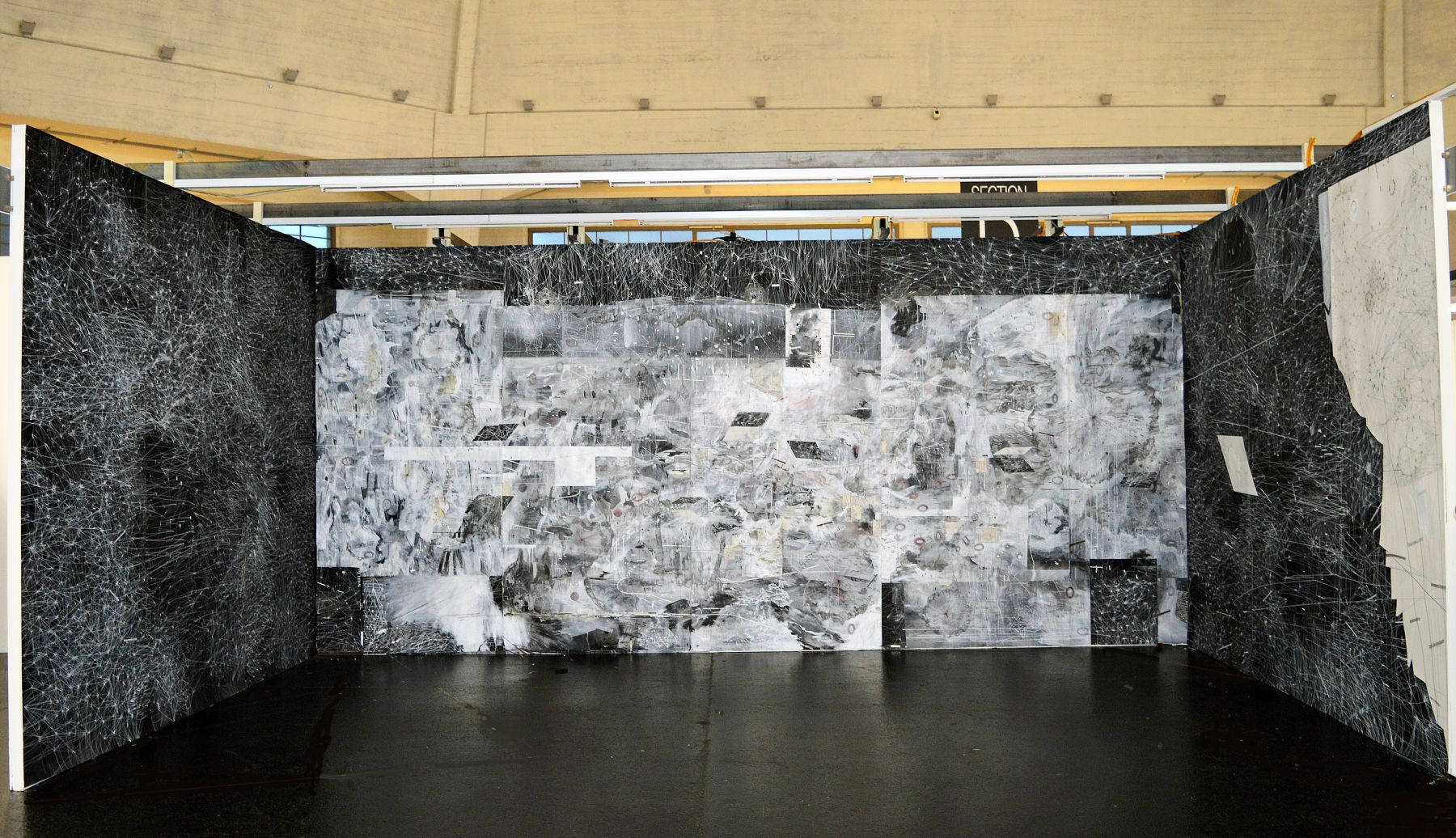 AMY SCHISSEL   ANIMATE GROUNDS   DIMENSIONS VARIABLE   INSTALLATION VIEW   VOLTA 10   BASEL, SWITZERLAND   2014