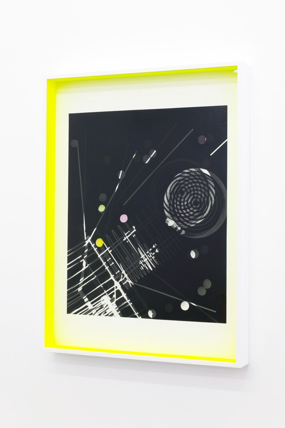 JANET JONES | SPACE JUNK #4| PHOTOGRAM-SILVER / HAND TINTED | 24.5X 32.5INCHES | 2017,
