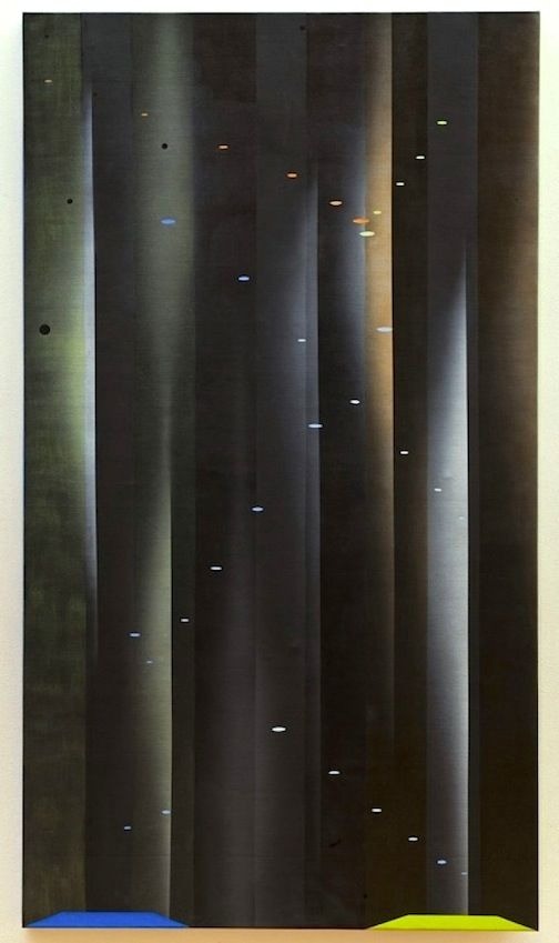 JANET JONES   DADA DLOW #3  OIL AND ACRYLIC ON CANVAS   54 X 96 INCHES   2006