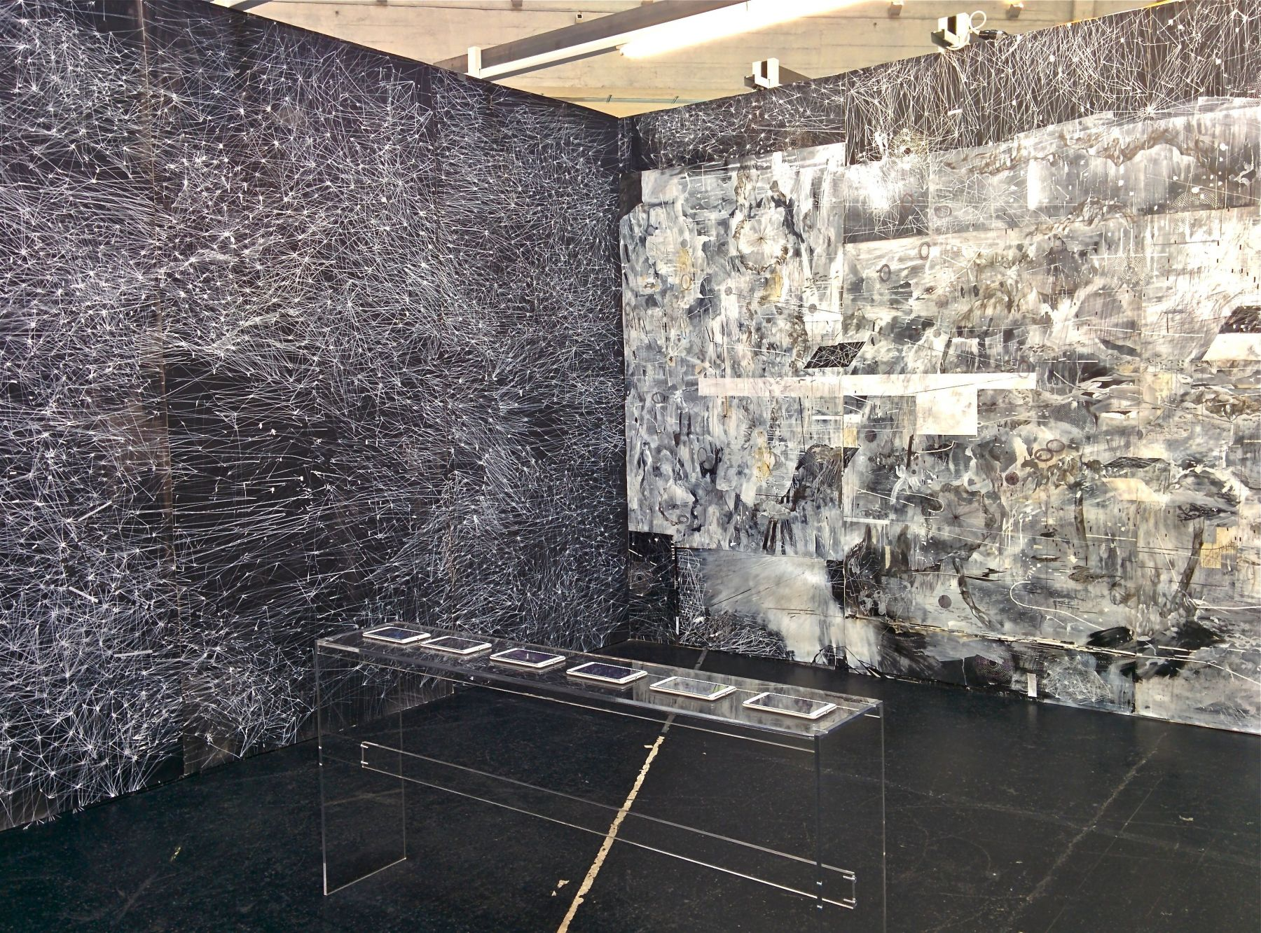 AMY SCHISSEL | ANIMATE GROUNDS | DIMENSIONS VARIABLE | INSTALLATION VIEW | VOLTA 10 | BASEL, SWITZERLAND | 2014