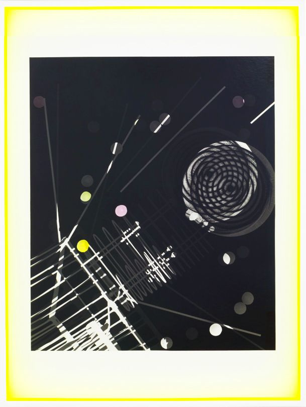 JANET JONES | SPACE JUNK #4| PHOTOGRAM-SILVER / HAND TINTED | 32.5X 24.5INCHES | 2017
