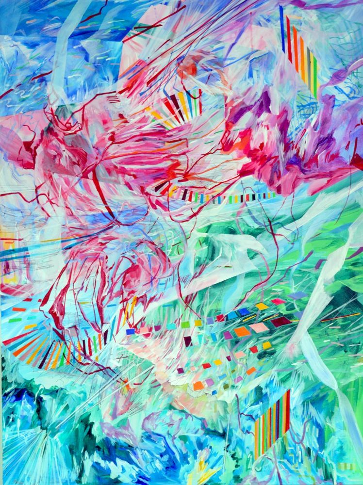 AMY SCHISSEL   DISSOLUTION   ACRYLIC ON CANVAS   30 X 40 INCHES   2015