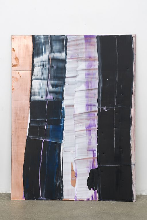 PAUL BUREAU | EPHEMERAL (COPPER #6) | OIL ON COPPER AND MDF | 48 X 36 INCHES | 2019