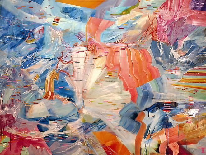 AMY SCHISSEL   SPAN   ACRYLIC ON WOOD PANEL   36 X 48 INCHES   2013