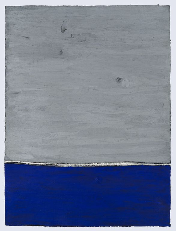 PAUL BUREAU   UNTITLED   OIL PASTEL ON PAPER  40 X 30INCHES   2013