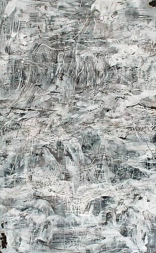 AMY SCHISSEL   EARTH SYSTEMS RELEASE 3   ACRYLIC, INK, AND GRAPHITE ON PAPER   40 X 65 INCHES   2013