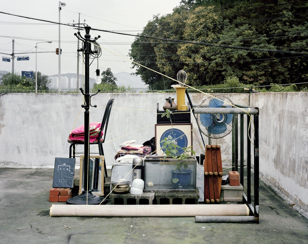 JINYOUNG KIM | VARIATION 3| OBJECTS ON THE ROOFTOP | C-PRINT | 38 X 48 INCHES | 2014