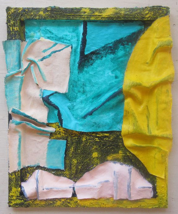 SOJOURNER TRUTH PARSONS | REALLY COLOURFUL | COLLAGE, SAND, LINEN, ACRYLIC ON CANVAS | 16 X 20 INCHES | 2015