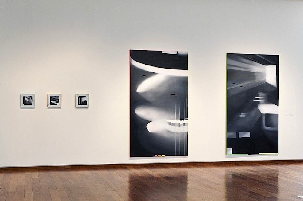 JANET JONES   A LAS VEGAS OF THE MIND #1 & #2  OIL AND ACRYLIC ON CANVAS   54 X 96 INCHES EACH   2010