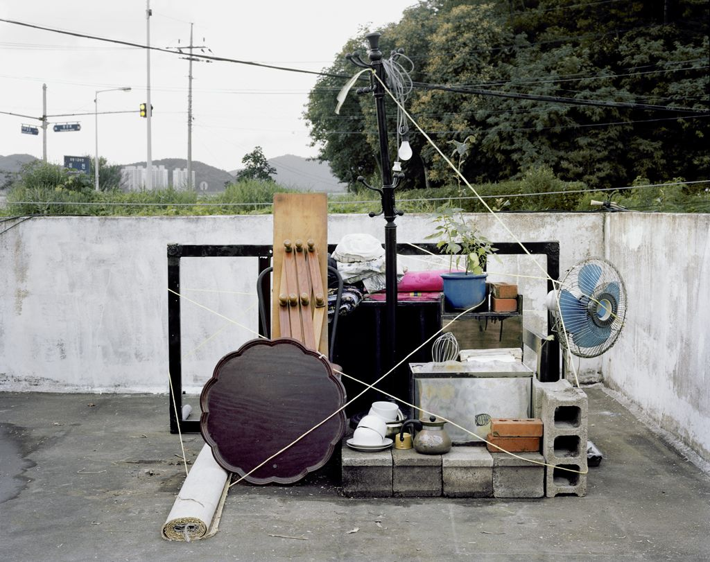 JINYOUNG KIM | VARIATION 2 | OBJECTS ON THE ROOFTOP | C-PRINT | 38 X 48 INCHES | 2014