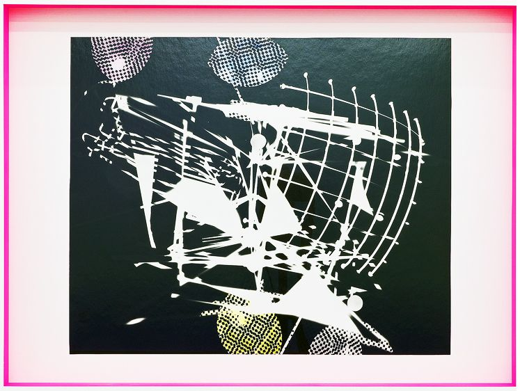 JANET JONES | SPACE JUNK #1| PHOTOGRAM-SILVER / HAND TINTED | 24.5X 32.5INCHES | 2017,