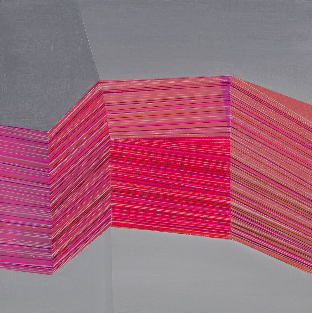 ANTONIETTA GRASSI   STACK   ACRYLIC, INK ON CANVAS   24 X 24 INCHES   2018