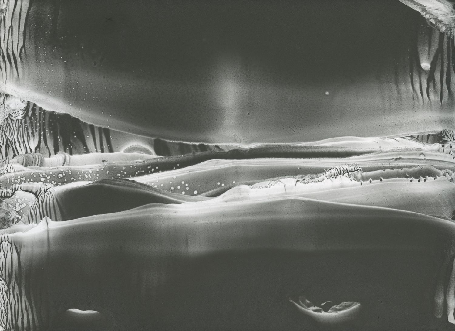 Roland Flexner, Untitled LGY 54, 2012, Liquid graphite on paper, 9 x 12 inches