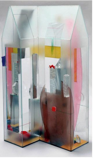 Therman Statoms skinny painted glass house