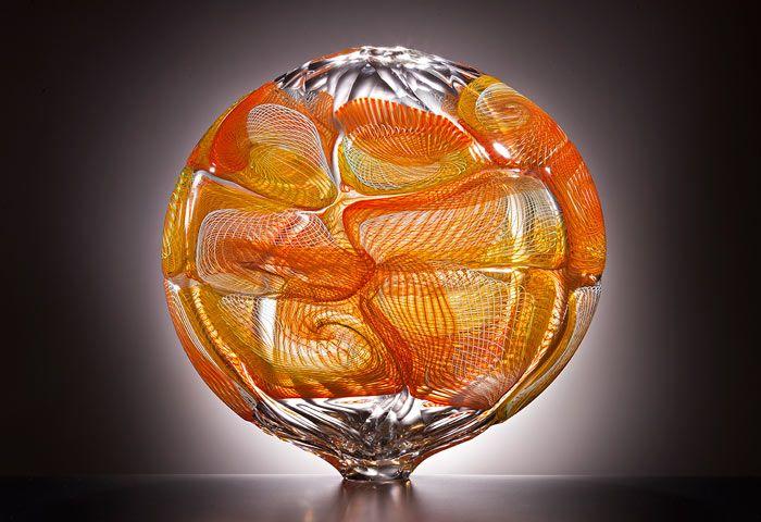 Lino Tagliapietra's amber and honey colored Kira