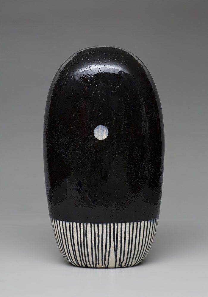 Jun Kanekos black dango with a spot and drips