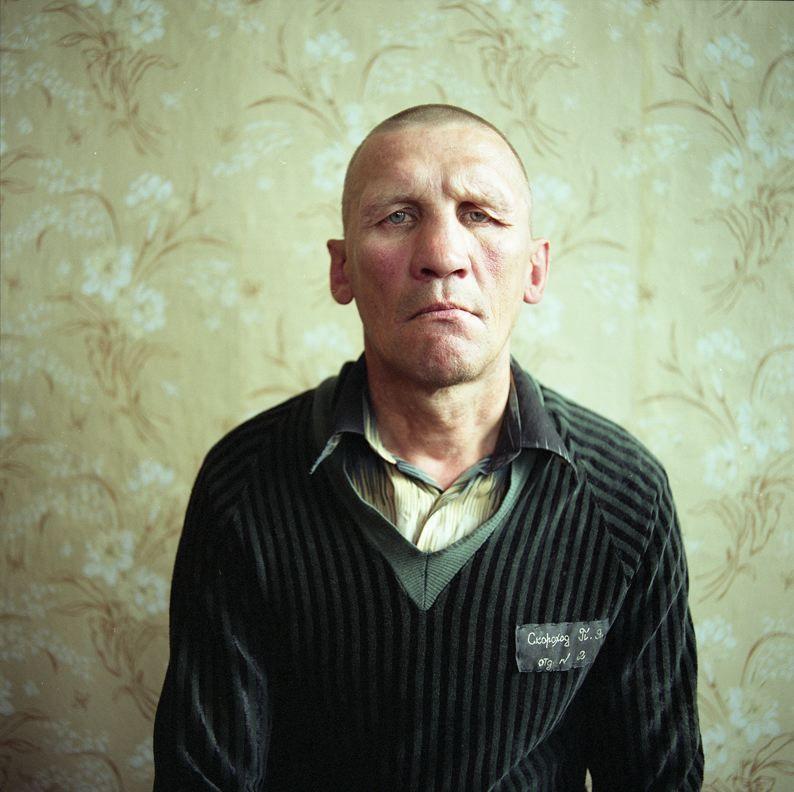MICHAL CHELBIN, Skarhod, sentenced for manslaughter and cannibalism. Men's prison, Ukraine, 2008