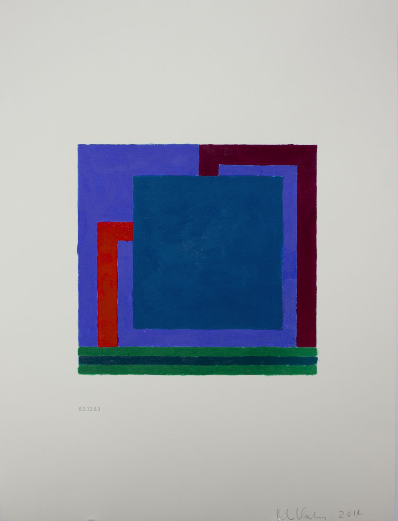 PETER HALLEY, Untitled (8.3.12.6.3), 2014