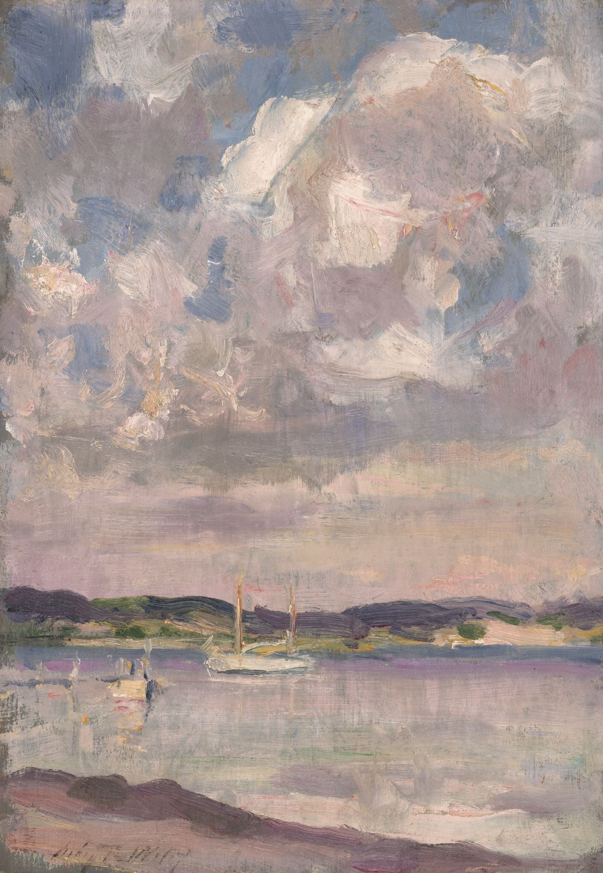 Irving Wiles, Sailboats on Peconic Bay